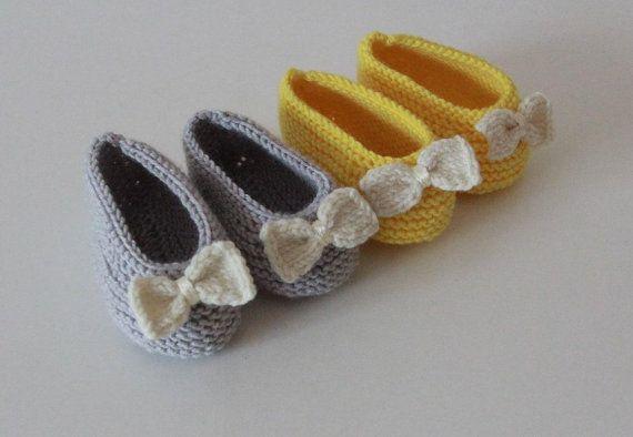 Hand stricken Baby Booties / stricken Baby von PetitMoutonFrancais