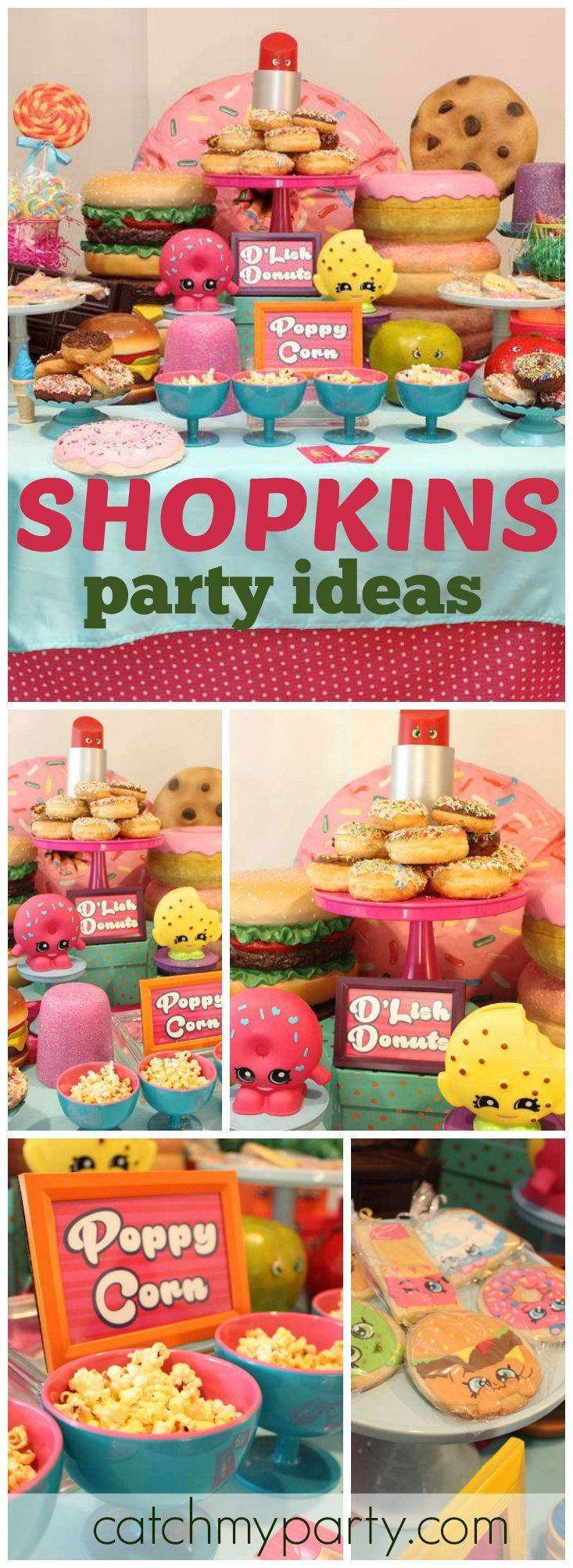 Love this colorful Shopkins girl birthday party! See more party ideas at CatchMyParty.com!