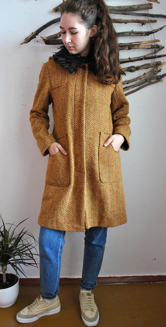 Collective | Long Yellow Coat 90s 80s Vintage Womens Retro Autumn | long coat outfit | long coat | long coats for women | long coats for women winter | long coat outfit casual | long coat | Long Coats | Long Coat For Women | Long Coat |