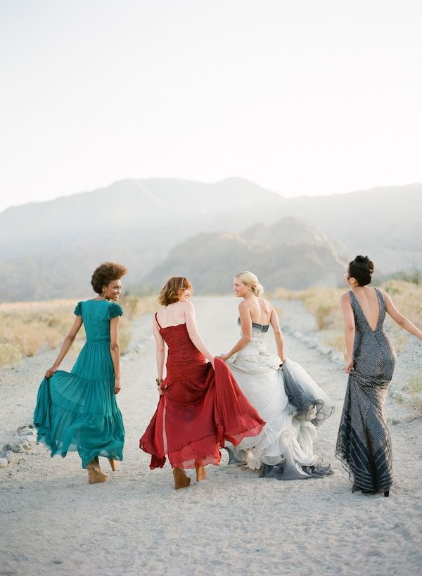 jewel toned bridesmaids dresses | Mix and Match Bridesmaids to Look Gorgeous | http://www.itakeyou.co.uk/wedding/mix-and-match-bridesmaids #bridesmaids