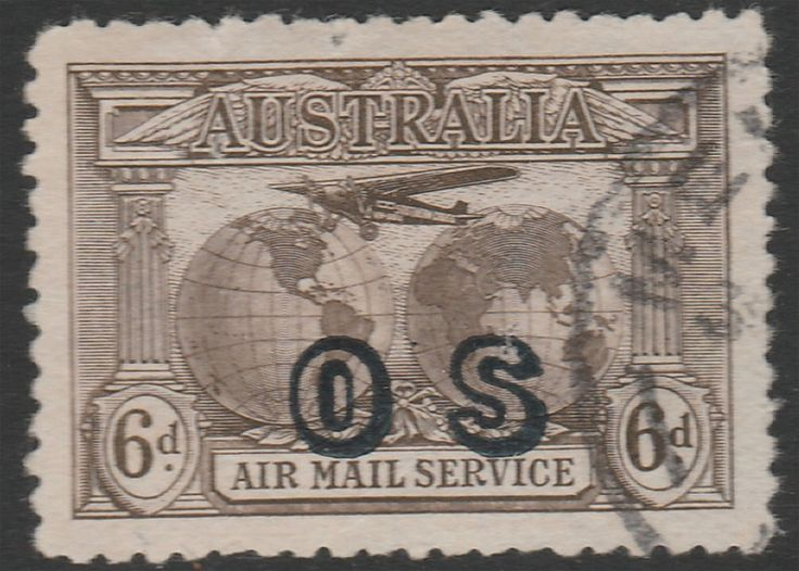 KGV 1914 - 1936 6d Kingsford Smith Airmail Opt OS Mint. Find more KGV 1914 - 1936 at Stamp Shop