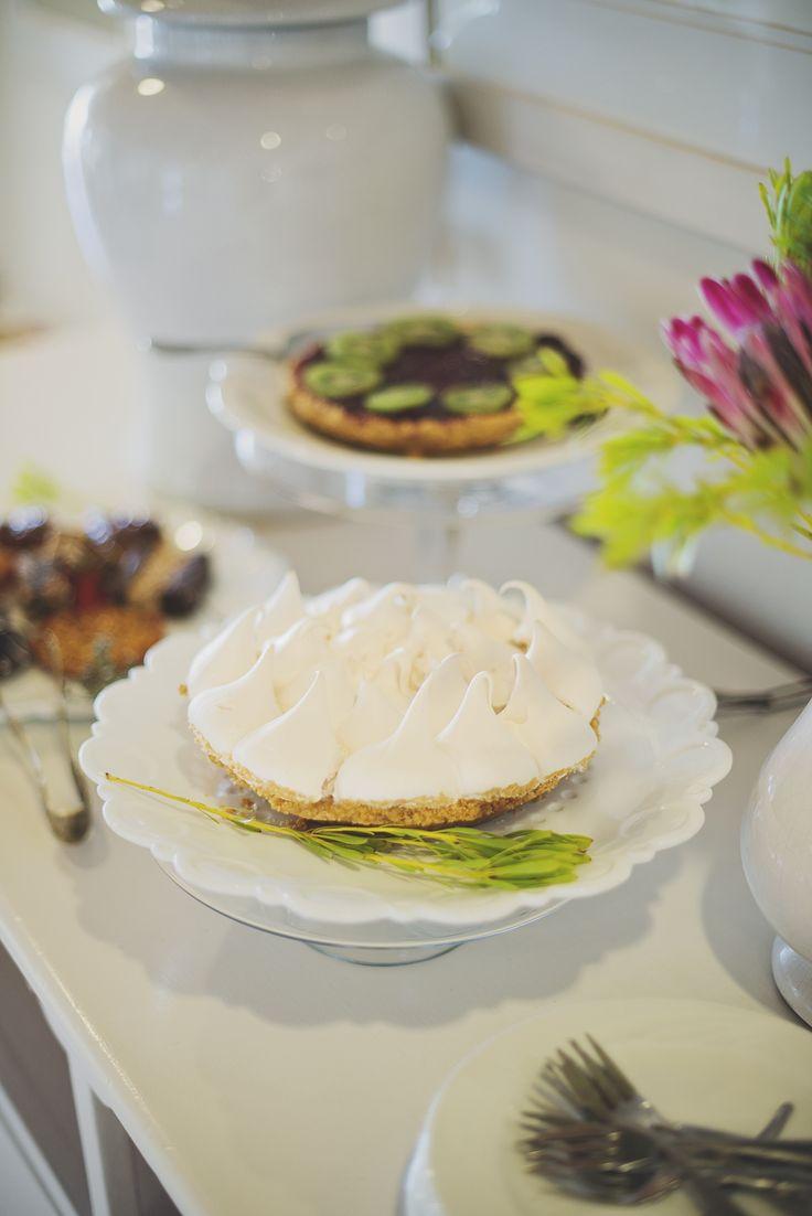 Lemon meringue pie for tea at The Last Word Long Beach.