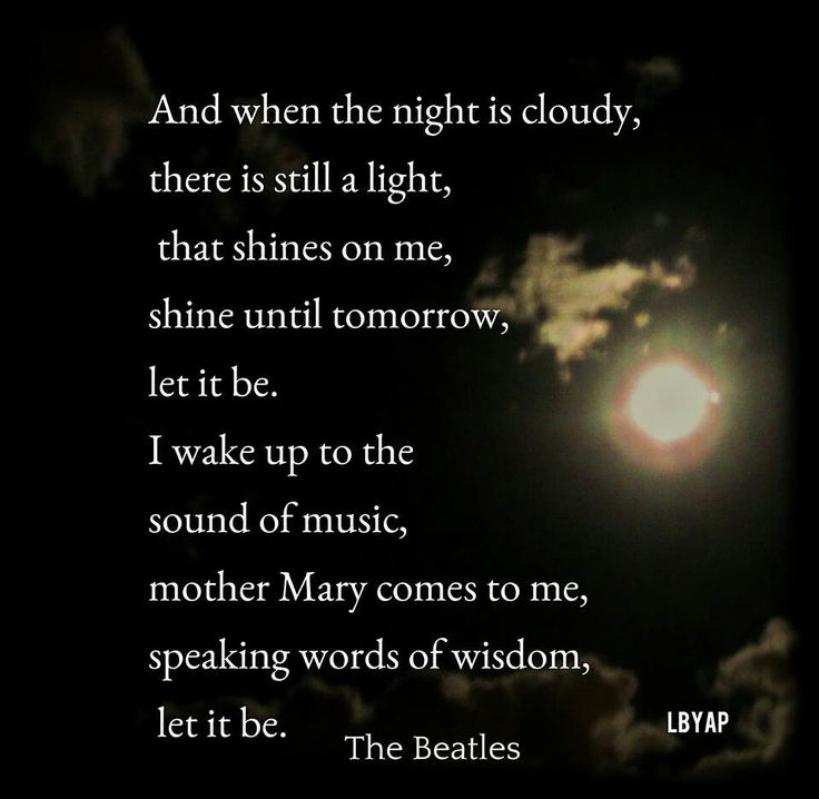 Let it Be- The Beatles | Music and Inspiration | Pinterest