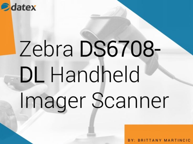 Zebra DS6708-DL General Purpose Handheld Digital Imager Scanner. This device combines omnidirectional 1D/2D barcode scanning with an embedded parsing agent.