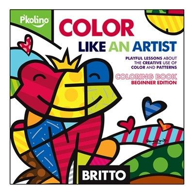 Britto Color Like an Artist Coloring Book by P'kolino
