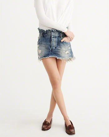 Ripped Denim Mini Skirt from Abercrombie & Fitch $118,00
