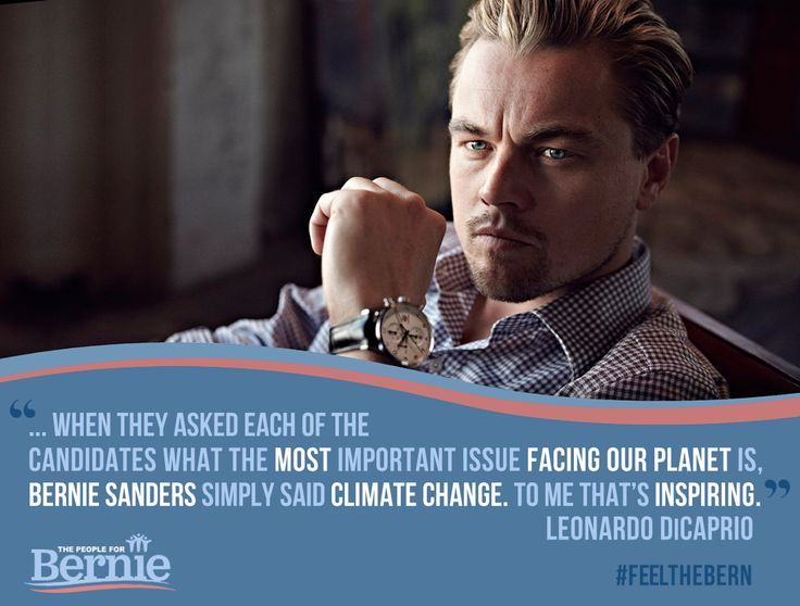 When they asked each of the candidates what the most important issue facing our planet is, Bernie Sanders simply said climate change. To me that's inspiring.