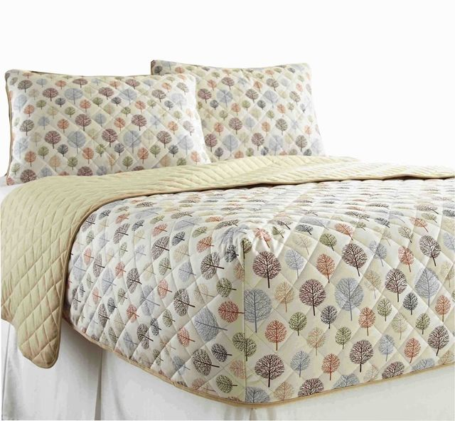 Micro Flannel Rv Quilted Fitted Bedspread Tree Bed