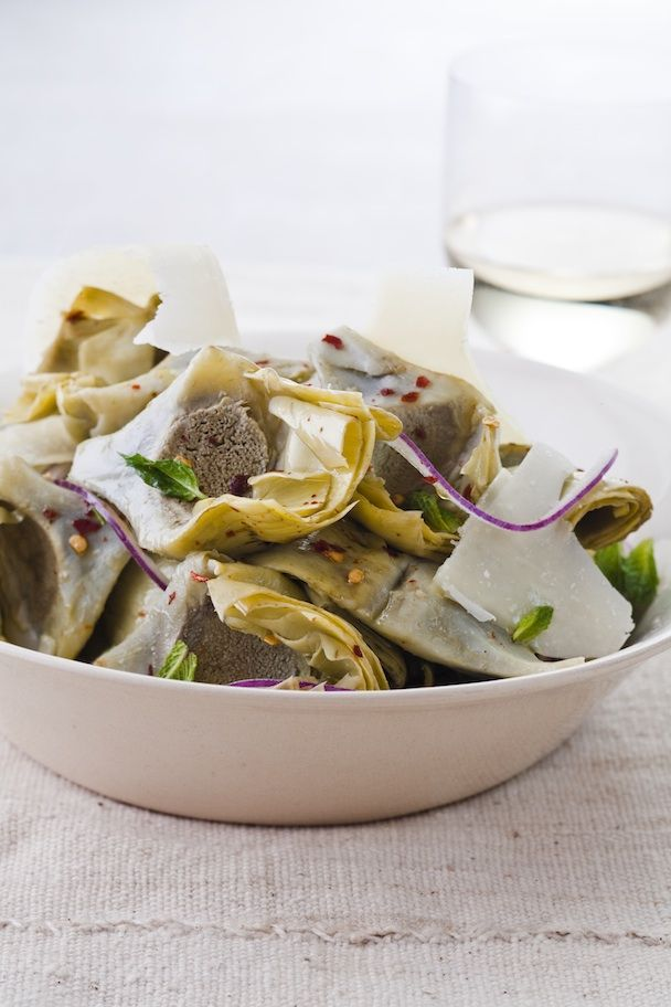 Artichokes with Grana Padano - my ideal antipasto for this summer!!