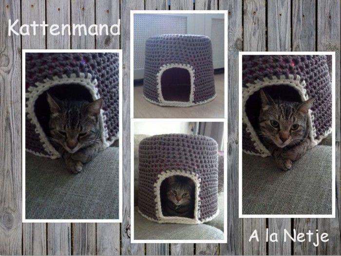 Kattenmand Gehaakt Voor Mijn Moppies Haken Voor Thuis Crochet