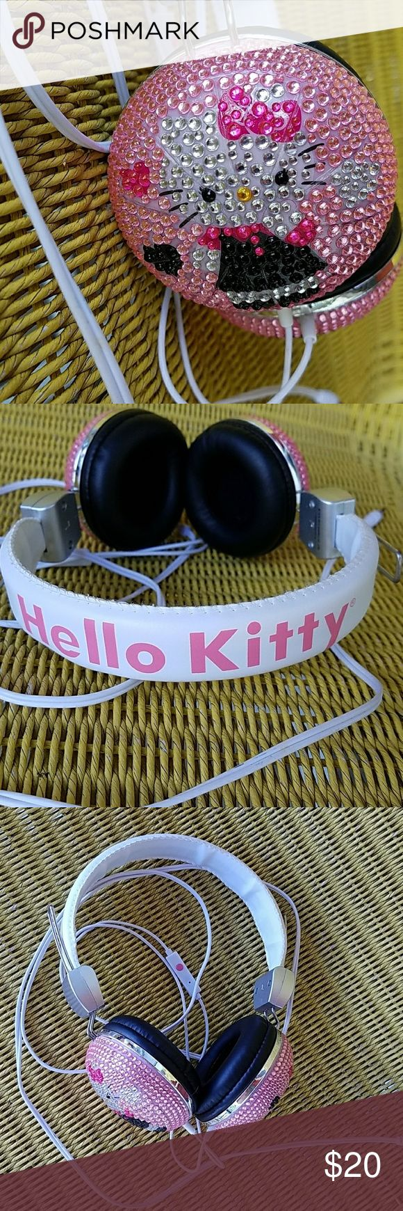 Bling Hello Kitty headphones Pink bling hello kitty headphones Hello Kitty Accessories