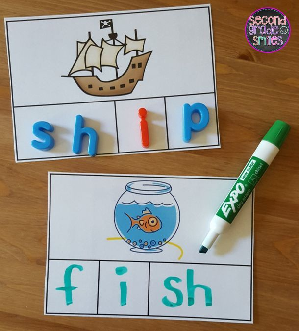 These fun, hands-on digraph activities were designed to help students practice segmenting and spelling words with beginning and ending digraphs th, sh, ch, and wh. These activities work well as word work center activities in first grade and second grade. Great for small group intervention too!  $