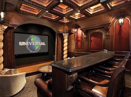 Theater room decorations excellent home theater room for Home theater decorations cheap
