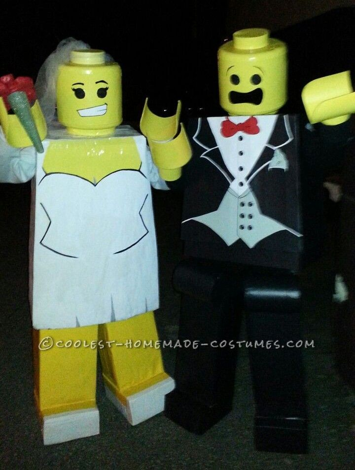 Legos in Love! Prize winning DIY Lego People Costumes... Coolest Halloween Costume Contest