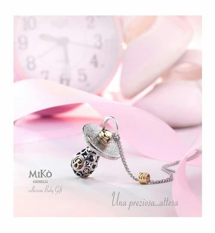Nuova collezione artigianale Miko' personalizzabile con data di nascita e iniziale del vostro bebe' Facebook : Gioielleria il Diamante www.gold-jewels-italy.com