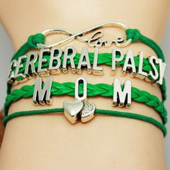 I wonder if I can make this myself. Free Family Love Cerebral Palsy Awareness Bracelet - Mom