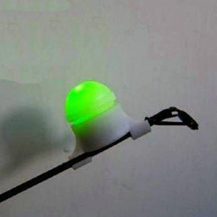 Baru Mogok Pemberitahuan Memancing Malam LED lLight Rod Tip Clip pada Ikan Bite Alarm Elektronik Aksesoris Memancing dengan Batang Adapter