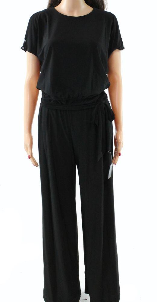 88ca3353f7d Lauren by Ralph Lauren NEW Black Women s XS Cold Shoulder Jumpsuit  155   265  fashion  clothing  shoes  accessories  womensclothing   jumpsuitsrompers (ebay ...