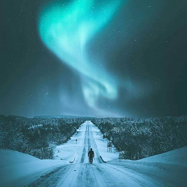 The northern lights route Photo by @eventyr