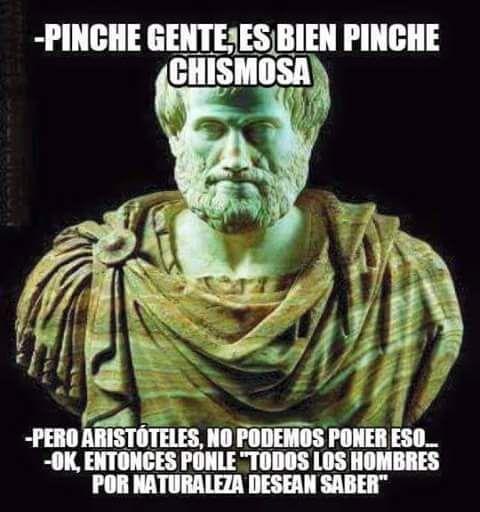 Memes chistosos en español: Aristóteles, no podemos poner eso →  #memesdivertidos #memesenespañol #memesparafacebook #Memestumblr #Memeswhatsapp