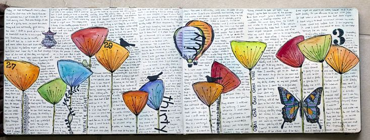 Collage... quanto mi piace!: Journal Idea, Crearty Sketchy, Art Journal Pages, Art Journals A, Artsy Colorful, Happy Color, Art Journaling