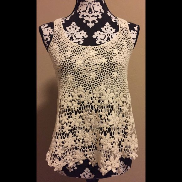 LACE SWIMSUIT COVERUP Lace swimsuit coverup. You'll look so stylish with this on top of your bathing suit! ( willing to negotiate ) Swim Coverups