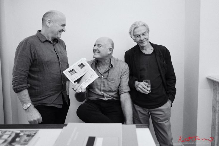 https://flic.kr/p/XUJi23 | Peter, Patrick and Brett at -f-i-l-t-e-r- Gallery. | I have long wanted to meet architectural photographer Patrick Bingham-Hall; and although I knew Peter knew him very well - had even hung my work with his on the same wall!!! As Patrick resides in the UK I never thought the moment would come.  But then today it happened - Patrick pretty much straight of a long haul flight is at Peter's gallery when we drop by. Lo and behold my mentor, Australian fashion…