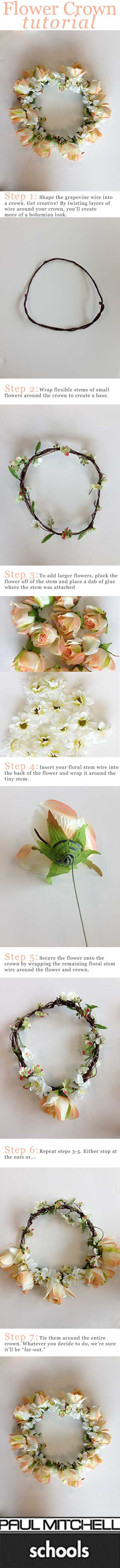 How To Make A Flower Crown #PMTS #PaulMitchellSchools #FlowerCrown