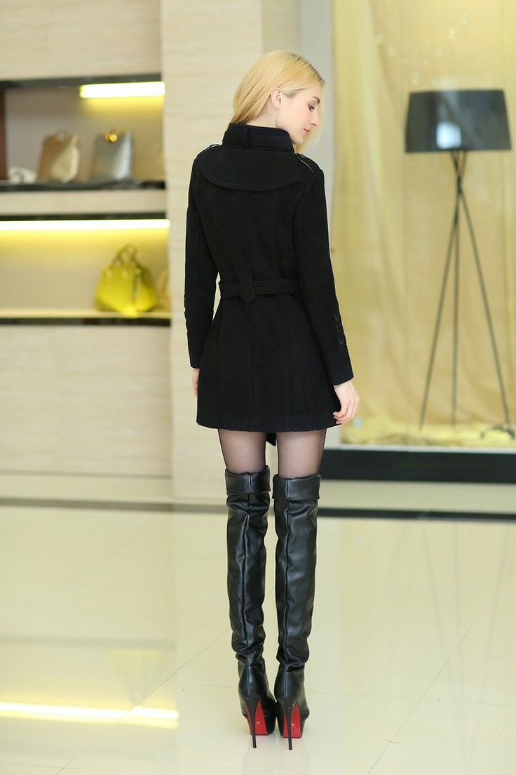 Women : Winter Double Breasted Wool Coat YRB0567