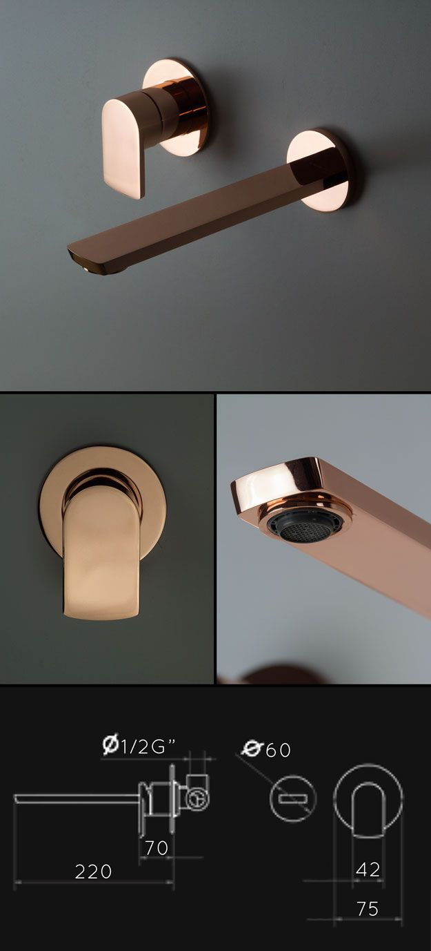 Copper Wall Basin Tap (35BB) 6 units