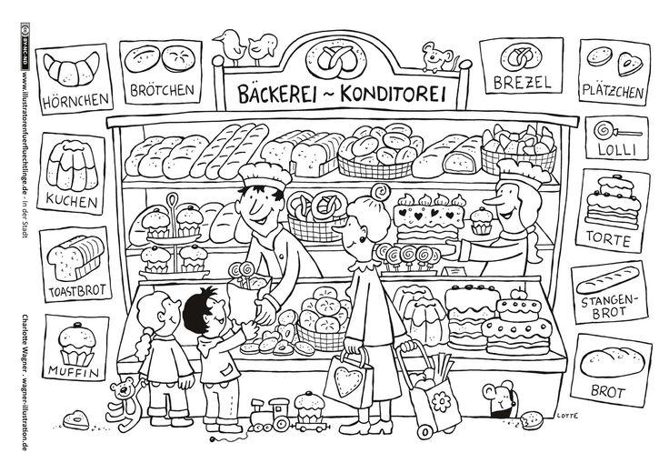Download als PDF: In der Stadt – Bäckerei – Wagner