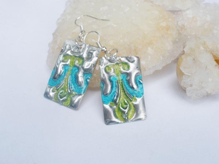 Handmade one of a kind artisan earrings, silver earrings, metal earrings, artisan design, tinned silver, brass, boho earrings, wearable art by ArtandSoulStudios on Etsy