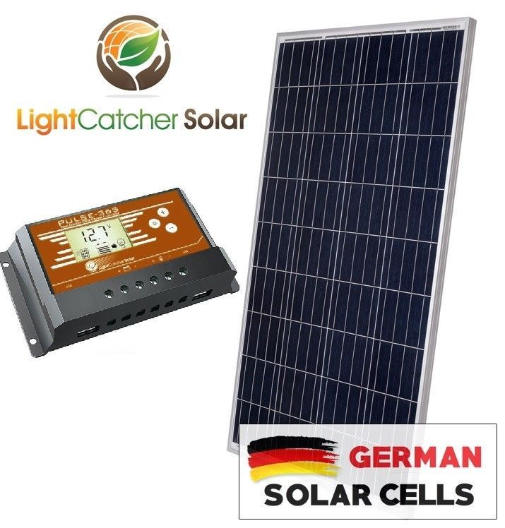 100 Watt 100w Solar Panel Kit With Solar Charge Controller 12v Rv Boat Off Grid Solar Panel Kits Solar Solar Kit