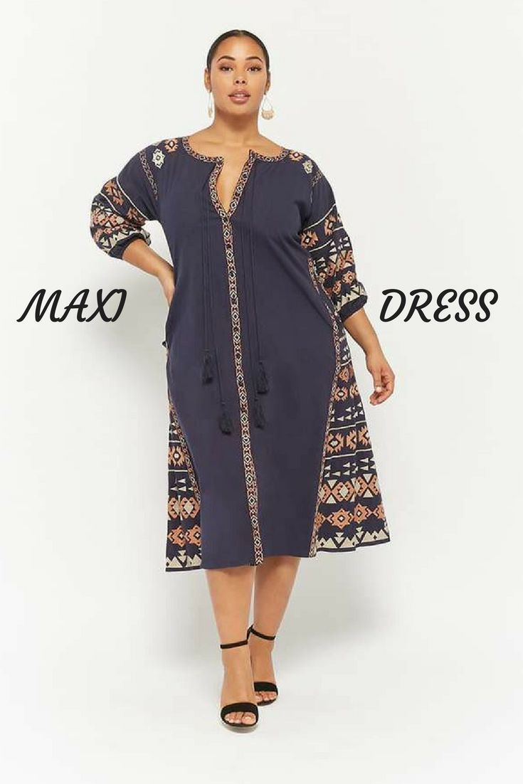 99ee7748861e1 Tribal inspired maxi dress from Forever 21 is a fantastic look. I love the  colors.  ad  forever21plus  plussize  plussizefashion  womenswear  tribal    ...