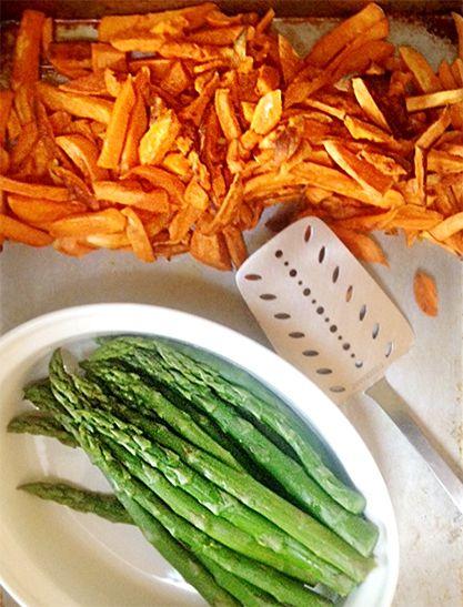 Recept na batáty, sladké brambory a chřest - DIETA.CZ