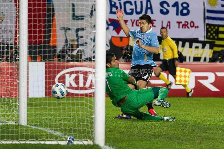 Uruguay 2 Peru 0 in 2011 in La Plata. Luis Suarez scores after 52 minutes to make it 1-0 to Uruguay in the Semi Final at Copa America.