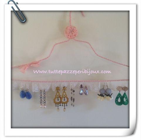 Tuttepazzeperibijoux: Portaorecchini fai da te: gioielli e vecchi merletti