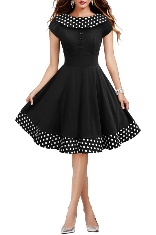 This unique and gorgeous vintage dress provides a very authentic retro look feat…  – clothes