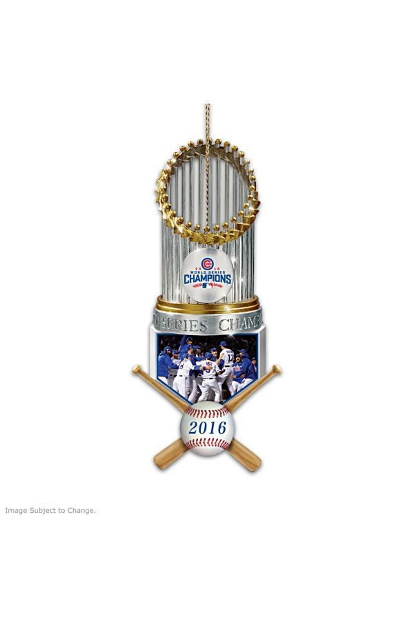 Show your Chicago Cubs pride with these World Series ornaments.