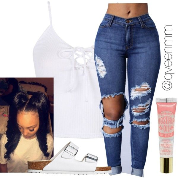 Untitled #549 by qveenmm on Polyvore featuring polyvore, fashion, style, Birkenstock and clothing
