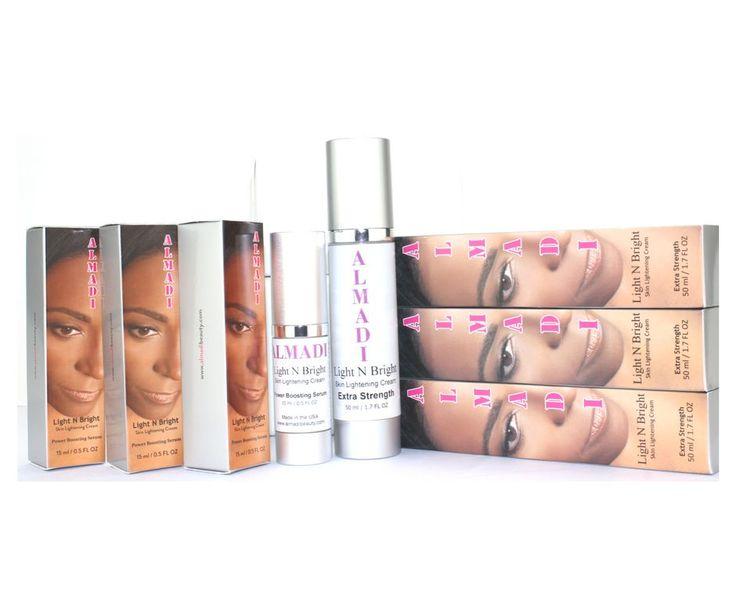 Almadi Light N Bright Skin Lightening Cream System Kit - 6 Pack Bundle Super Duper Deal
