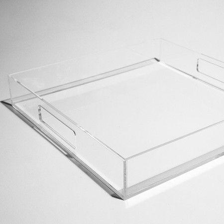 Vassoio in plexiglass trasparente #design #designtrasparente #plexiglass