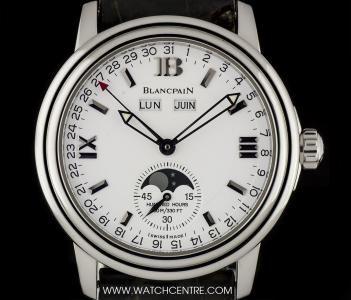 Blancpain Stainless Steel Leman Moonphase Complete Calendar 2763-1127A-53 #Blancpain #Steel #Leman #Moonphase #Calendar #Gents #Wristwatch #Luxury #Timepiece #WatchCentre #NewBondStreet #Mayfair #London