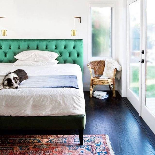 Emerald Green Behead Bliss @blackmango_aus #saturday #pleasecani #stayinbed #bedroom #bliss #emerald #green #velvet #interior #chill #bohostyle #beauty #saturdaymood #instagood #lovemyblackmango