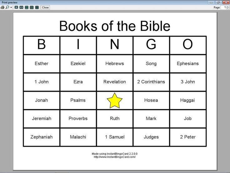 Universal image intended for books of the bible games printable