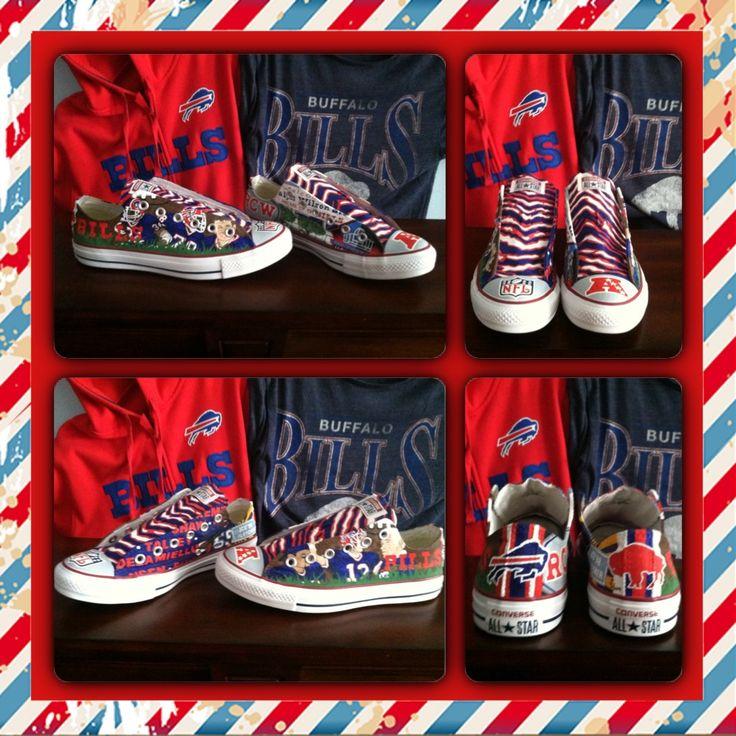 Nobody circles the wagons like the Buffalo Bills! Hand painted custom Converse All Star shoes