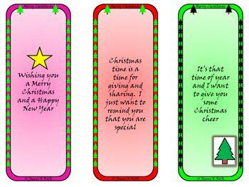 Christmas Freebee: Christmas Bookmarks: