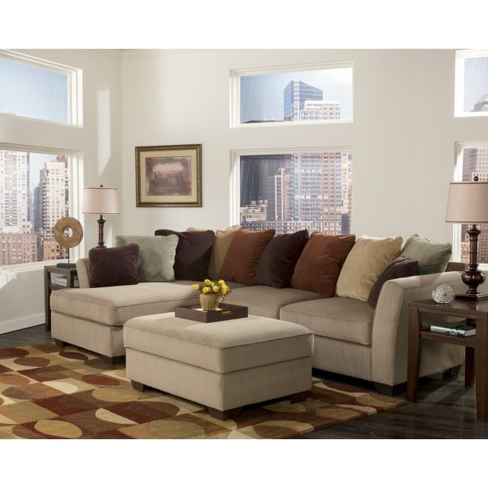 Ashley furniture sectionals with chaise ashley furniture for Ashley mocha sectional with chaise