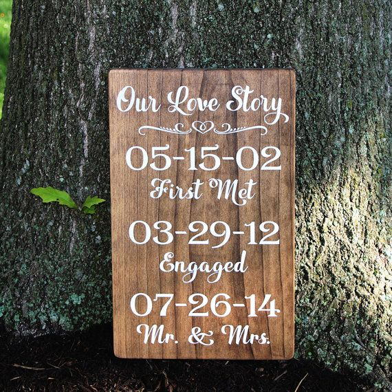 Our Love Story Wedding Date Sign Painted Wood By Thesignpatch 55 00