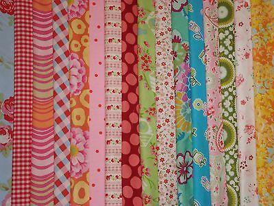 Bundle patchwork fabric material remnants Cath Kidston Kaffe Fassett Amy Butler